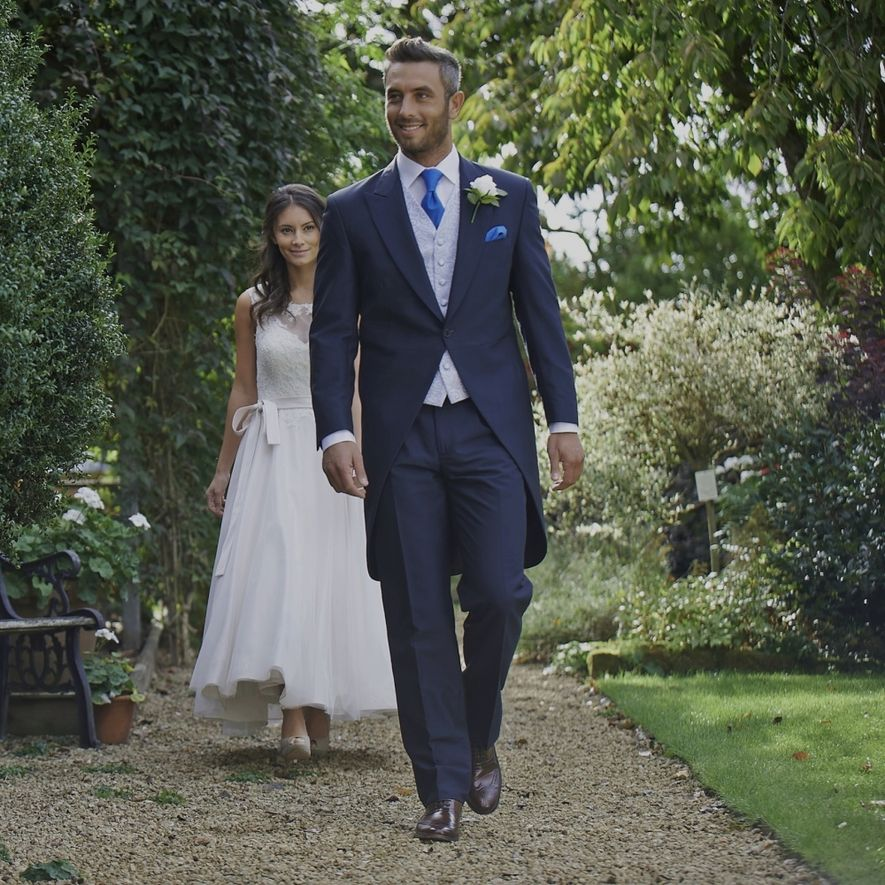 Bride and groom, tailcoat suit