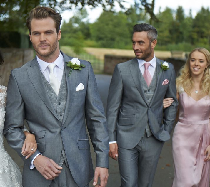 Classic modern men's wedding suits